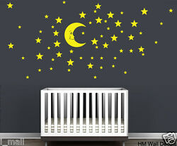 Moon amp; Stars Removable Wall Stickers for kids room or nursery
