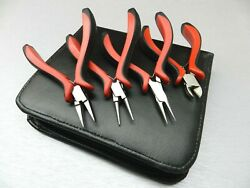 Jewelry Making Pliers Set Bead Wire Working Hobby Hand Tools 4pc Kit 5 -130mm