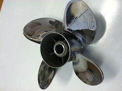 4 Four Blade Stainless Steel Propeller Prop 15x15 Yamaha Outboards 150-300hp