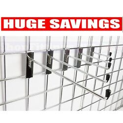 New Gridwall Hooks Prong Arm For Mesh In Chrome 4 6 8 10 12 Five Sizes