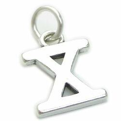 Roman Numeral Number 10 Sterling Silver Charm .925 X1 X Numerals Charms
