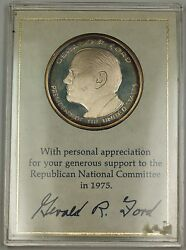 The Official 1975 Rnc Commemorative Silver Medal For Gerald Fordand039s Campaign