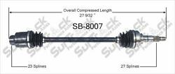 New Front Passenger Side Cv Drive Axle Shaft Fits For Subaru Justy 1989-90