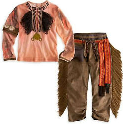 Native American Indian Boy's Tonto Western Halloween Costume Size S 2 3 2/3 4