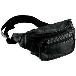 FANNY PACK Sling Bag Black Leather Mens Waist Belt Womens Pouch Chest Crossbody $10.95
