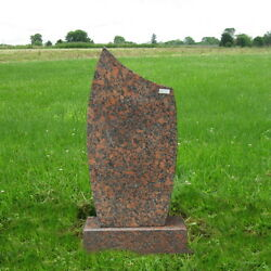 Monument Granite Head Tomb Grave Marker Cemetery Stone Canyon Red Mn-126