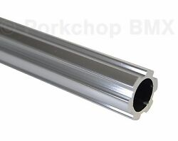Old School Bmx Bicycle 450mm Seatpost Seat Post Fluted 22.2mm 7/8 Silver