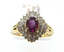 18kt Yellow Gold 1.23 Cttw Ruby And Diamond Ring Size 5.5 48r 140-10420