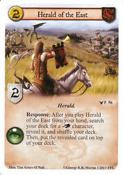 3 X Herald Of The East Agot Lcg 1.0 Game Of Thrones Sacred Bonds 56