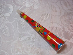 1950's 60's Vintage Party Noise Maker Horn New Years Colored Dots And Dancers