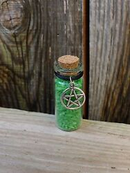 Lucky Green Rice  Wealth & Success Talisman wicca pagan money spell amulet altar