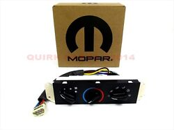 99-04 Jeep Wrangler WITHOUT Air Conditioning AC & Heater Control UNIT MOPAR OEM