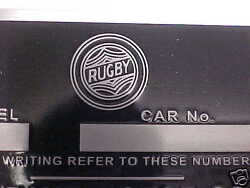 Rugby Truck Acid Etched Aluminum Data Plate 1928-32 Durant Mfg.