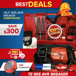 Hilti Te 905 Avr Preowned Free Flashlight Extras Chisels Fast Shipping