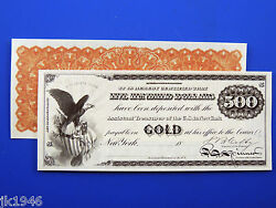 Reproduction 500 1863 Gold Certificate Note Us Paper Money Currency Copy