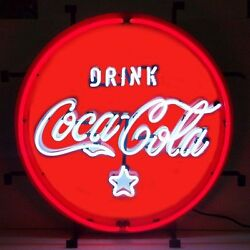 Coca-cola Classic Red And White Neon Sign 5ccrwc - Garage Game Room Bar Wall Art