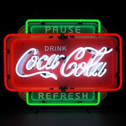 Coca-cola Pause Refresh Neon Sign 5ccprf - Garage Game Room Bar Wall Art - New