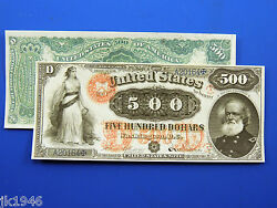 Reproduction 500 1875 Legal Tender Note Us Paper Money Currency Copy