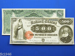 Reproduction 500 1880 Legal Tender Note Us Paper Money Currency Copy
