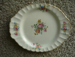 Beautiful Oval Serving Plate/made In Usa Limoges/pattern English Rose/22k Gold