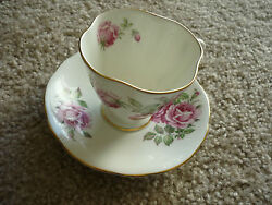 Vintage Cup And Saucer/clarence China/ England