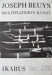 Joseph Beuys And039and039multiplizierte Kunstand039and039 Rare Signed Exhibition Poster 1979