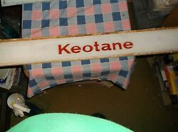 Vintage Skelly Gas Keotane Glass Insert Small Letters About 29 3/16 X 3 1/2 Inc