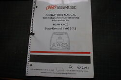 Ir Ingersoll Rand Blaw Knox Grade Slope Controller Ags-7.5 Owner Operator Manual
