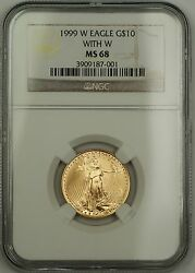 1999-w Emergency Issue 10 Dollar Gold Eagle Age 1/4 Oz Coin Ngc Ms-68