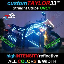 1 Reflective Straight Strips Motorcycles Bicycles Cars Helmets Bikes Pinstripes