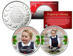 George 2014 Christmas Set Of 2 Royal Canadian Mint Medallion Coins