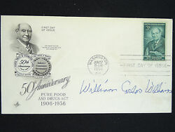 William Carlos Williams 1956 Signature Autograph On First Day Issue Envelope
