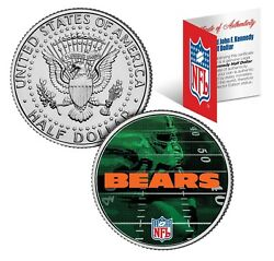 Chicago Bears Field Jfk Kennedy Half Dollar Us Colorized Coin Nfl Licensed