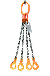 Chain Sling - 5/8 X 6and039 Quad Leg With Positive Locking Hooks - Grade 100