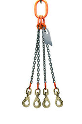 Chain Sling - 5/8 X 6and039 Quad Leg With Swivel Positive Locking Hooks - Grade 100