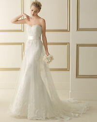 2014 Luna Novias Luxurious Sheer Lace A-line With Veil/purse Andfeatur On The Knot
