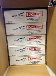 500 Dime Coin Tubes - New - Screw-on Tops - Koin Tubes - Made In The U.s.a.