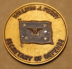 Secretary Of Defense William J Perry Challenge Coin