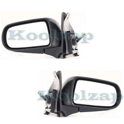 99-03 Protege Protege5 Rear View Mirror Power Non-heated Manual Folding Pair Set