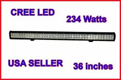 36inch 234w Cree Led Work Light Bar Driving Lamp Off-road 4wd Suv Boat Jeep