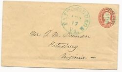 Us Star Die Cover Used In Csa Blue Pattonsburgh Va Cds April 17 1861 Ex-thayer