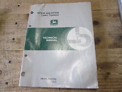 Used John Deere Technical Manual Tm1418 Lawn Tractors Stx30 And Stx38