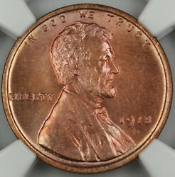 1918-d Lincoln Wheat Cent Penny 1c, Ngc Unc Details, Nice Example