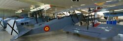 Hs-34 Hispano-suiza Spain Trainer Airplane Wood Model Replica Large Freeshipping
