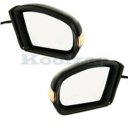 03-09 E-class Door Mirror Power Heated W/memory Turn Signal Puddle Lamp Set Pair