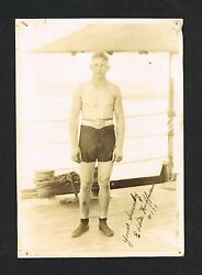 Extremely Rare Ca 1925 Champion Eddie Huffman Vintage Signed Boxing Photo