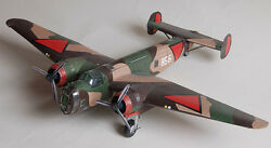 T-v Netherlands Air Force Fokker Airplane Wood Model Replica Large Free Shipping