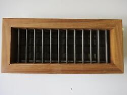 Cruisair/ Dometic Air Supply Teak Wood - Bronze Anodized Louvers 10x4 217400005
