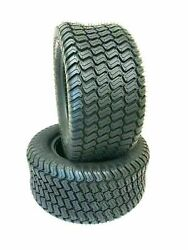 Two 16x6.50-8 Lawn Tractor Tires Mower Turf 16x650-8 16 650 8 Lawn Tires