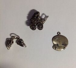 3 Vintage Sterling Baby/child Charms 1 Beau, 1 Sunwest, Great Price Free Ship